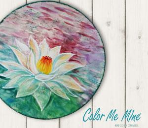 Menlo Park Lotus Flower Plate