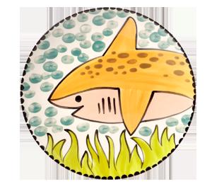 Menlo Park Happy Shark Plate