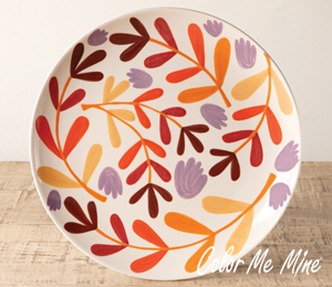Menlo Park Fall Floral Charger
