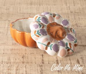 Menlo Park Floral Pumpkin Box